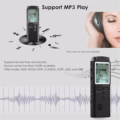 32G Voice Activated Mini Spy Digital Sound Audio Recorder Dictaphone MP3 Player 9