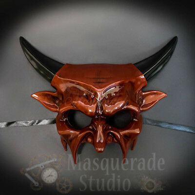 Men/'s Demon God Ancient Greek Beast Satan Spirit Costume Masquerade Mask White