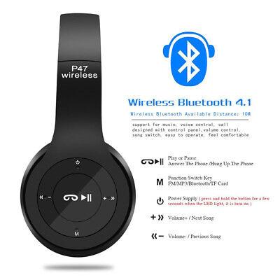Bluetooth 4.1 casque sans fil stéréo casque stéréo sport FM P47 oreillette FRA 3