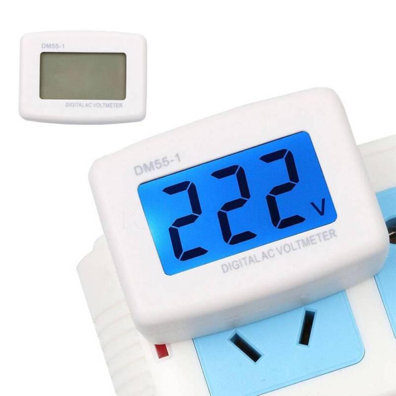 LCD Digital Voltmeter Volt Meter Monitor AC 110V US Plug 80-300V Voltage Testers 3