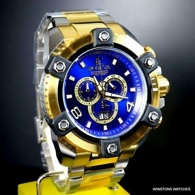 Invicta Reserve Grand Octane Arsenal 2 Tone Steel 63mm Swiss Mvt Blue Watch New 5