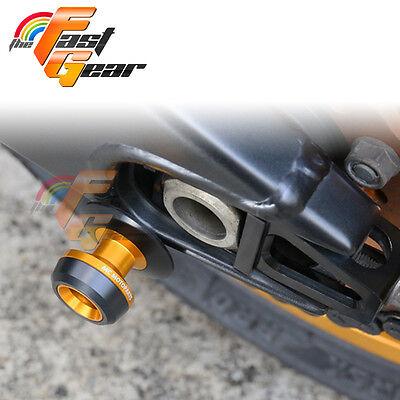Twall Protector Gold Swingarm Spools Sliders Fit Kawasaki ZX-10R Ninja 2004-10