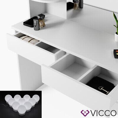 Vicco Table de maquillage Charlotte commode de coiffeuse miroir LED blanc 5