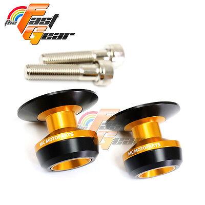 Twall Protector Gold Swingarm Spools Sliders Fit Kawasaki ZX12R 2000-2006