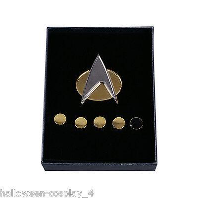 Star Trek Badge The Next Generation Magnetic Communicator Badge And Rank Pin Set 3