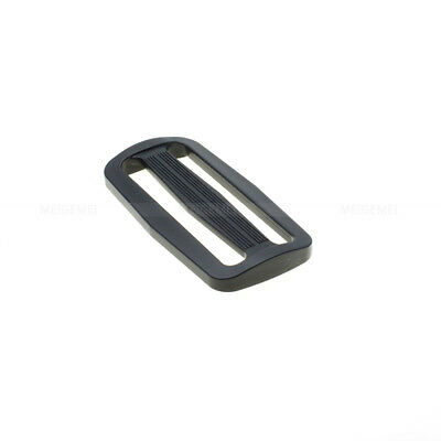 Plastic Slider Tri-Glide Adjust Buckles Backpack Straps Webbing 15mm~50mm Black 5