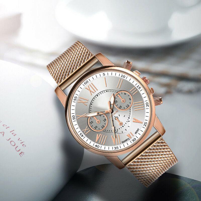 New Women Watch Stainless Steel Analog Quartz Dress Bracelet Wrist Watch JP 6
