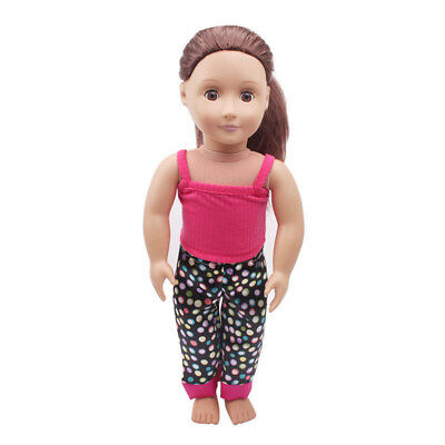 5PCS /Set Clothes Shoes for 18'' American Girl Our Generation Dolls Pajamas UK 9