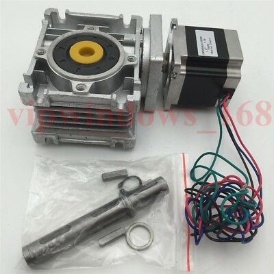 Nema23 Stepper Motor 11Nm Worm Gearbox 10:1 Speed Reducer Kit CNC Router Milling 9