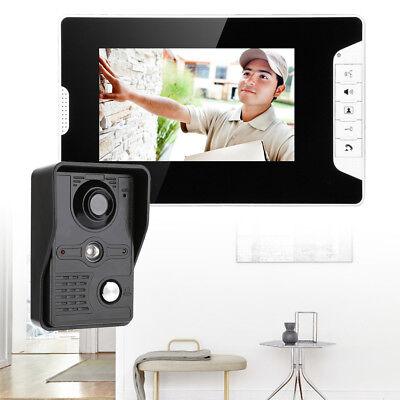"""7"""" TFT/LCD Farb Monitor Klingel-Sprechanlage Türsprechanlage + 4-Draht-Anschluss 2"""