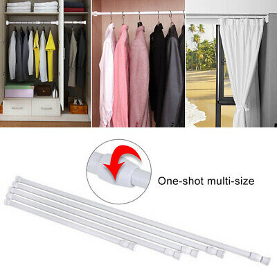 Spring Load Extendable Telescopic Net Voile Tension Curtain Rail Pole Rod No 11