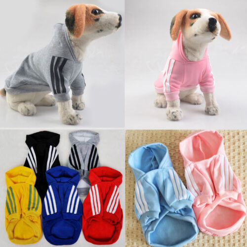 Cute Medium M Pink Adidog Hoodies For Male Small Dogs Outfits Apparel Cheap US 5