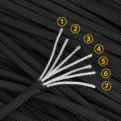 31 Mètre 550lb Paracord Rope Core 7 Noyau Corde Mil Spec III >250KG 100% Poly 3