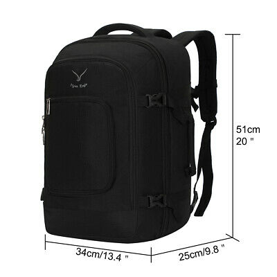 Hynes Eagle Travel Backpack 40L Flight Approved Carry on Backpack Packing Cubes 3