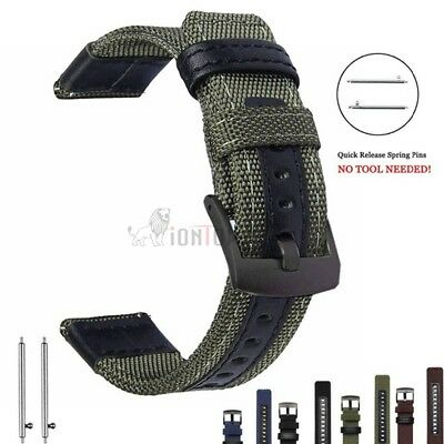20mm 22mm Nylon Fabric Sport Watch Band Replacement Quick Release Wrist Strap 3