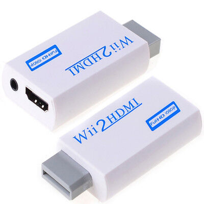 720P 1080P Full HD Wii to HDMI Video Converter 3.5mm Audio Adapter Upscaling AU 2