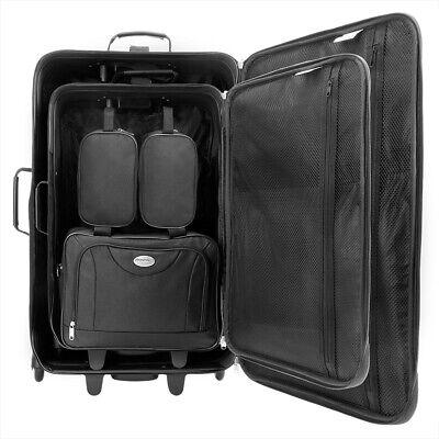 Kofferset Reisekoffer 5 Taschen Trolley Reise Koffer Set Tasche S M L XL schwarz 4