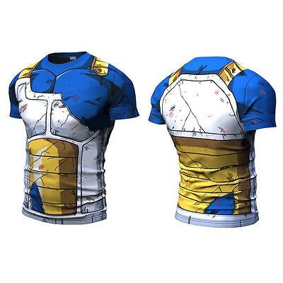Hommes Top Tee Dragon Ball Son Goku Vegeta T-Shirt Short Long Pantalons Cyclisme