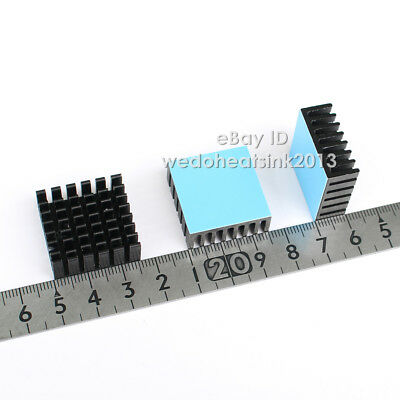 8pcs 25x25x10mm Aluminum Heatsink With Thermal Heat Adhesive Transfer Tapes 2