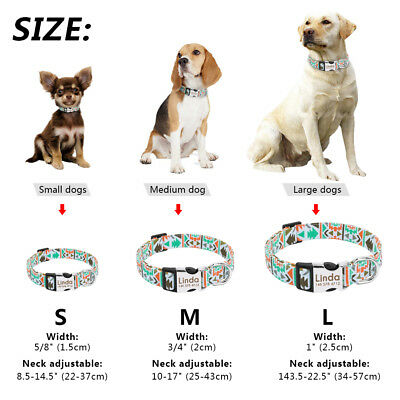 Unique Soft Nylon Personalized Dog Collar for Small Large Dogs Engrave Nameplate 2