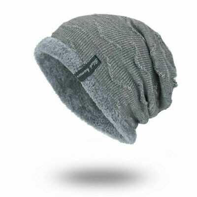 Spikerking Men's Soft Lined Thick Knit Skull Cap Warm Winter Slouchy Beanies Hat 7