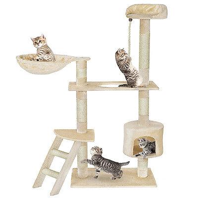 Arbre à chat griffoir 153cm de haut beige 2