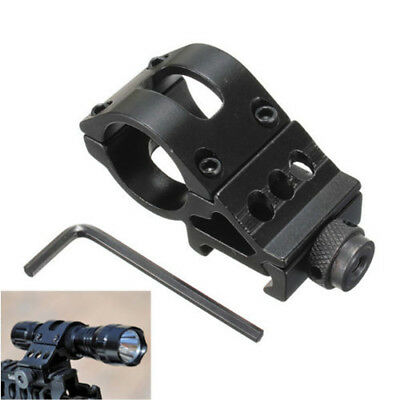 """45°& 1"""" 25.4mm Ring QD Clamping Mount 20mm Rail Fr Hunt Flashlight Laser Shotgun 7"""