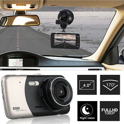 4'' HD 1080P Dual Lens Car DVR Front and Rear Camera Video Dash Cam Recorder 170 4