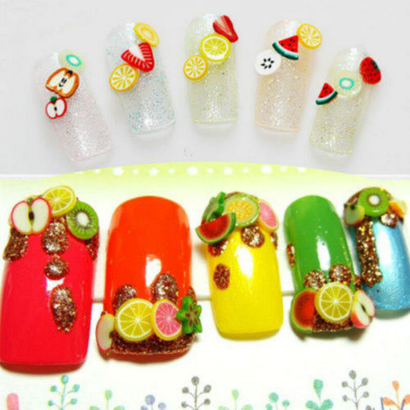 1000X Nail Art Mix Design Fimo Slices Polymer Clay Stickers Decoration Manicure*