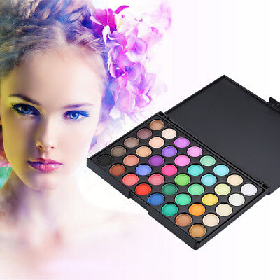 40 Color Nude Eyeshadow Palette Mineral Matte Pigment Eye Shadow Waterproof R6TY 12