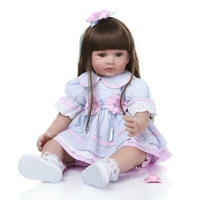 """24"""" Reborn Baby Dolls Weighted Cloth Body Toddler Girl Doll Real Size Xmas Gifts 5"""