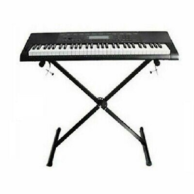 Portable Heavy Duty X Frame Folding Adjustable Keyboard Stand Piano With Straps 7