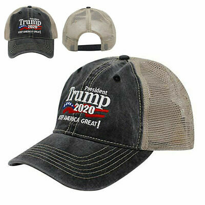 Trump 2020 MAGA Hat Keep Make America Great Again Mesh Embroidered Cap A+++ USA 6