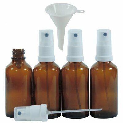 mikken 4 x Sprühflasche 50 ml Braun Apothekerflaschen mit Zerstäuber BPA-frei 8