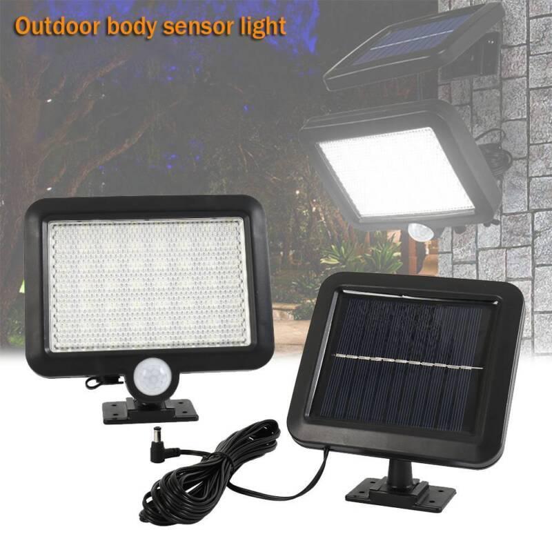 56 LED Solaire Détecteur de Mouvement Lumière Lampe de Jardin Extérieur Lampe 3