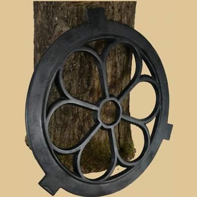 Fenster rund Gotisch Stallfenster Eisenfenster Guss Eisen NEU Kunst schwarz 43cm 2
