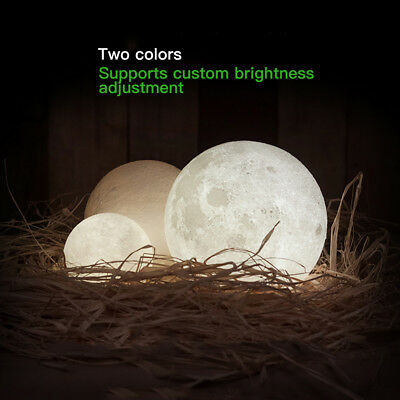 Dimmable 3D Magical Moon Lamp USB LED Night Light Moonlight Touch Sensor Lamp 4