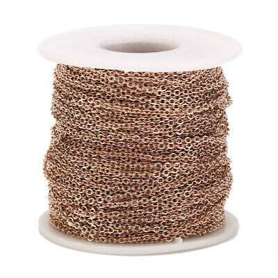2MM Stainless Steel Cable Chain Link in Bulk for Necklace Jewelry Accessories 4