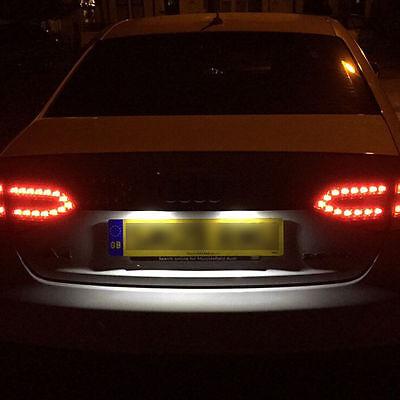 1x Audi Q7 4L Bright Xenon White LED Number Plate Upgrade Light Bulbs