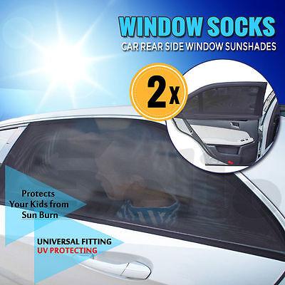 Univesal 2x Car Rear Window UV Mesh Sun Shades Blind Kids Child Sunshade Blocker 8