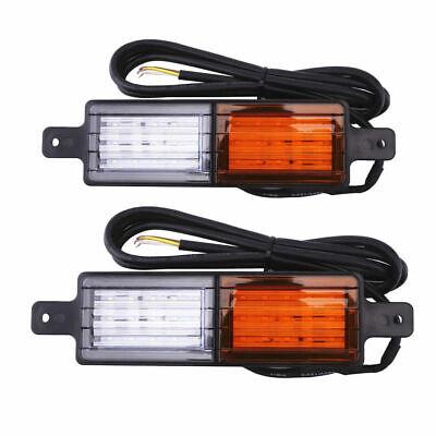 2X Sealed Bullbar Lights Set Front Indicator Park LED Bull Bar Light 4