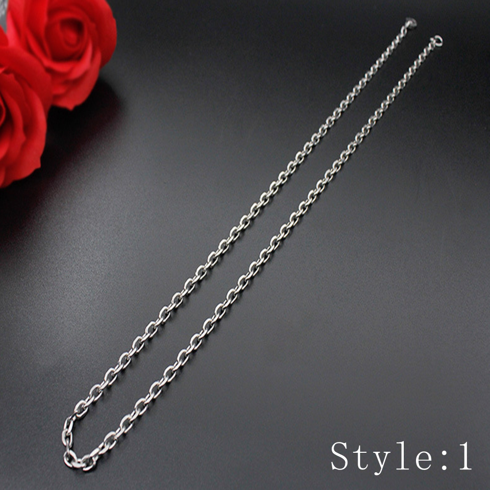 Gift Man Women Fashion 316L Stainless Steel 2mm-5mm Silver Chain Necklace 2