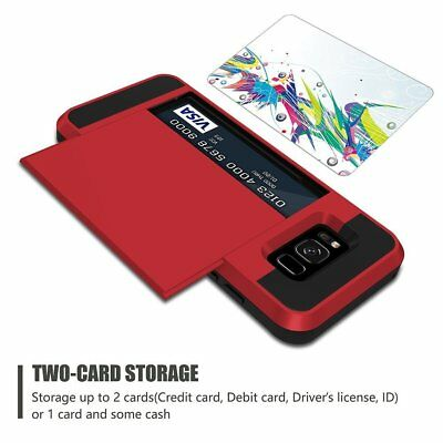 Shockproof Wallet Credit Card Holder Protective Case Cover Fits Samsung Galaxy 5