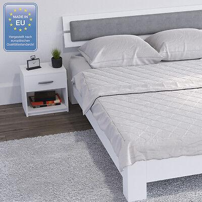 COMODINO CON CASSETTO Comodino per camera da letto in rovere bianco ...