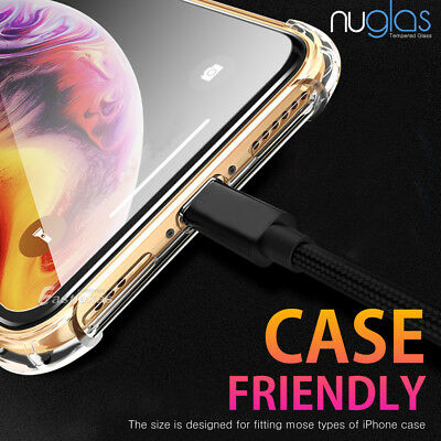 2x NUGLAS Tempered Glass Screen Protector Apple iPhone 11 XS Max XR 8 7 6s Plus 10