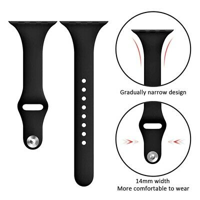 For Apple Watch Series 5/4/3/2 Replacement Silicone Soft Sport iWatch Band Strap 3