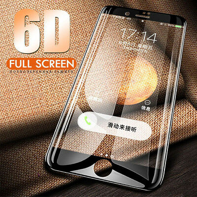 Screen Protector For iPhone 8 Plus 6D Curved Full Coverage Tempered Glass