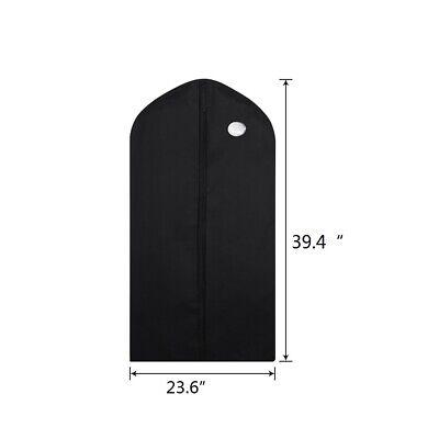 "10 Pack 40"" Garment Bag Suit Storage Cover Dress Clothes Coat Dust Protector 10"