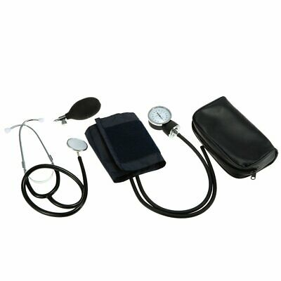 Manuelles Aneroid Oberarm Blutdruckmessgerät +Doppelkopf Stethoskop Kit DHL-BS 6