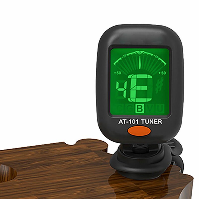 LCD Clip-on Electronic Digital Guitar Tuner for Chromatic Violin Ukulele Bass 3